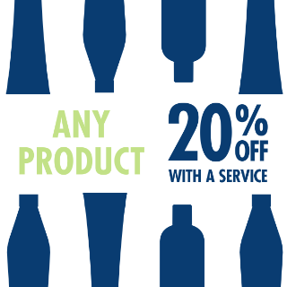 20% Off Any Product with a Service