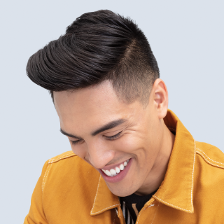 Man with a pompadour