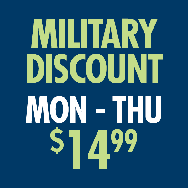 Military Discount $14.99 Haircuts Monday through Thursday